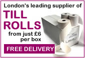 Printer Rolls Till Rolls and Paper Rolls for Cash Registers and Credit Card PDQ Machines - Best Prices in London